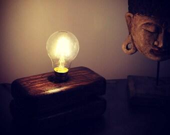 Lamp wood base