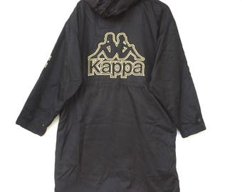 Vintage kappa long jacket parka big logo spell out emboidery