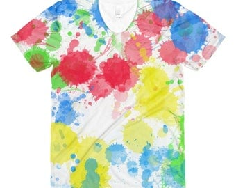 Paint Splatter women's crew neck t-shirt