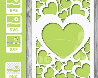 Cuttable and printable Card - Hearts