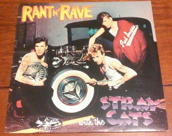 Vinyl: Rant n' Rave with the Stray Cats, Sleeve and Record, Free Shipping