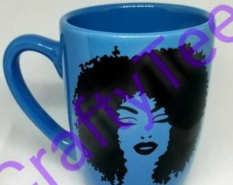 Blue Sassy Mug