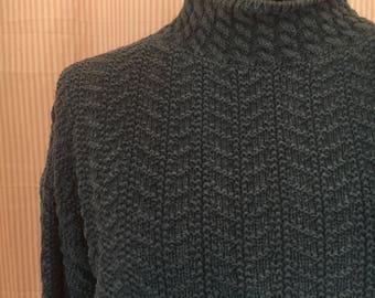 Vintage 1990 Gap Blue Mock Turtleneck Sweater