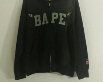 Vintage!!  Bape hoodie / bathing ape sweatshirt / big spell out