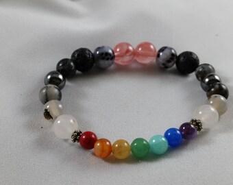 chakra rose quartz bracelet