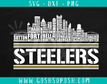 Pittsburg Skyline Steelers Football Team - SVG - DXF - PNG -  Cut File -  Silhouette / Cricut Files