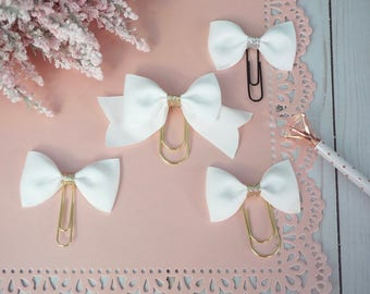 White Grosgrain Bows, partial/early release