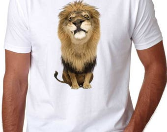 Funny Lion adult T-Shirt