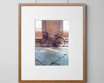 Vintage Bicycle poster Digital Watercolor Art Print