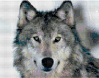 Wolf Counted Cross Stitch Pattern PDF Download