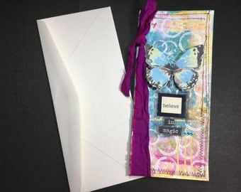 Handmade Card with Butterfly