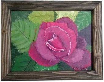 Magenta Rose with frame