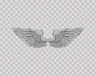 Decals Sticker Angel Pear Of Wings Atv Durable Hobbies 04874