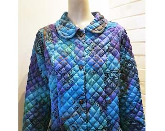 80's coat, Blue coat, Retro coat for woman, Vintage coat, Long coat, Retro oversize coat, 80's woman clothes, Retro blue coat, 80's fashion