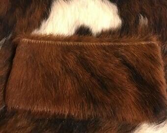 Brindle Cowhide Wallet Clutch With Zipper