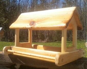 extra large cedar wood fly through platform feedertbnup