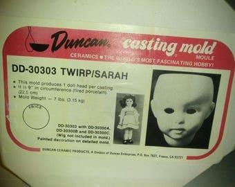1984 Duncan Mold DD-30303 Twirp Sarah Doll Head Ceramic Porcelain