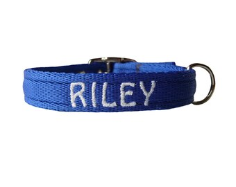 """Personalised Dog Collar with Name or Number 3/4"""" Wide"""