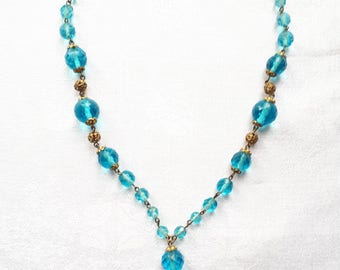 Vintage 1940's Glass Beaded Necklace