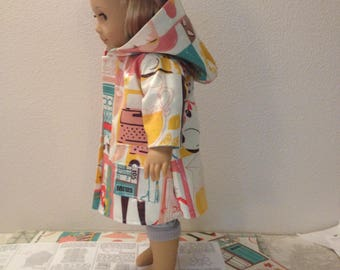 hooded raincoat for an 18 inch doll