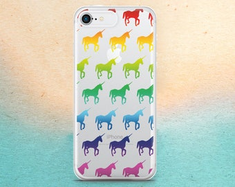 Horse's iPhone X Case iPhone 7 Case iPhone 6 iPhone 5 SE 5S Samsung S5 Galaxy S6 Samsung S7 Edge Rainbow horse Samsung S8 iPhone 8 case  46