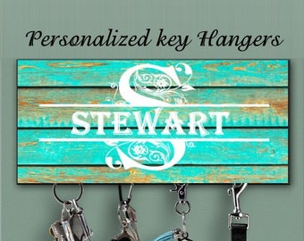 Personalized Key Holder, Wall Key Rack, Personalized Housewarming Gift, New Home Gift, Wedding Gift, Anniversary Gift, Family Key Holder