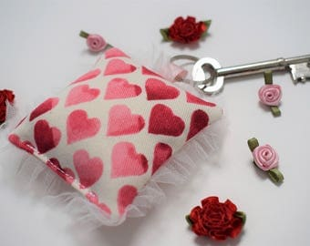 Emma Bridgewater - Heart Key Ring - Handmade - Sewn - Friendship Gift - Valentine's - New Home - Cushion - Decoration - Wedding Favour