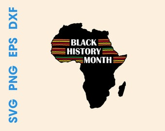 Black history month svg Black history month shirts Black history month Africa silhouette