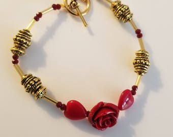Rose and Gold Bracelet
