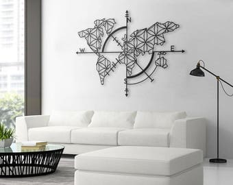 Metal wall art etsy for Decoration murale zimbabwe