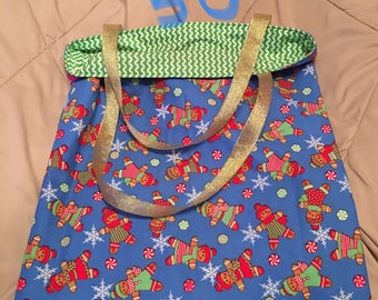 Handmade Reverisble Christmas Bag