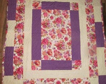 Flowers Galore crib/lap quilt