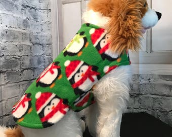 Xsmall penguin quilted dog coat