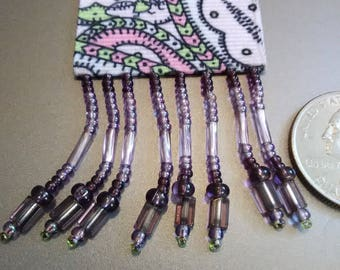 Lilac Beaded Rose&Lime BeautyMarkz Bookmark