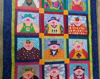 Whimiscal Pig Quilt