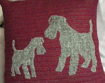 Terrier Harris Tweed Cushion