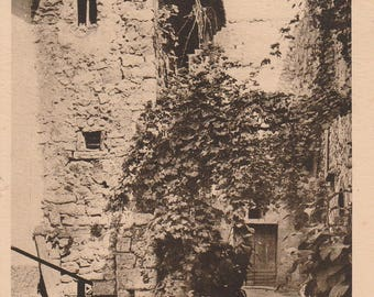 St Paul, Cote D'Azur, France  ~  Real Photograph ~ Vintage Postcard ~ Posted