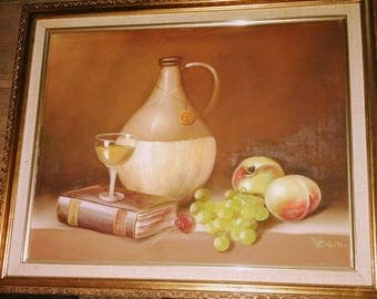 Vintage Oil on canvas painting by JENKINS