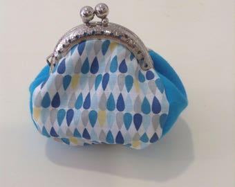 Mini wallet pattern Vintage drops blue