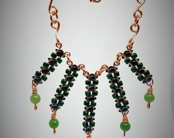 Necklace, Czech beads