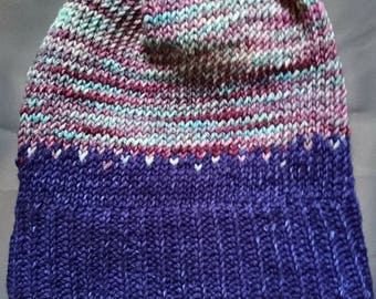 Purple merino hat