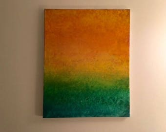 "Aura Abstract Painting 40""x20"""