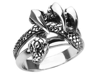 Serpent Claws Ring Made in Solid Sterling Silver