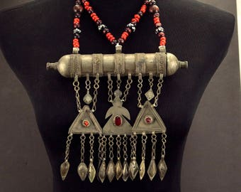 Turkoman Tribe Tumar NECKLACE Bellydance Tribal Dance 812s6