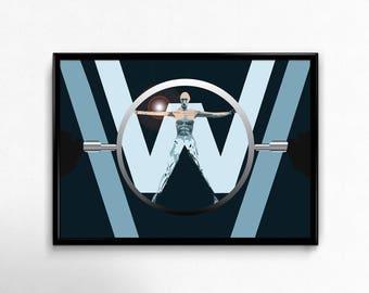 INSTANT DOWNLOAD Westworld Movie Poster, Alternative Movie Poster, Minimalist Movie Print, Film Poster