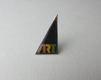 Vintage 90's Lapel Triangle Art badges Pins Enamel