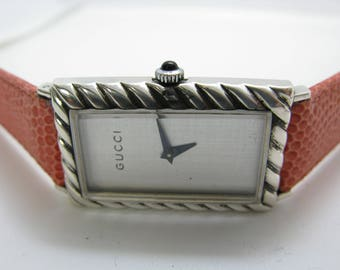 rare vintage Gucci  watch made in France sterling silver 9.25 made in France rare
