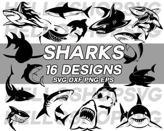 shark svg, great white shark , marine life svg, sea creature, sea animal, silhouette, clipart, decal, stencil, vinyl, iron on, eps, dxf, png