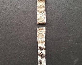 Diamondback Rattlesnake skin watch band 20mm