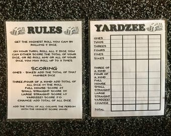 Obsessed image in free printable yardzee rules